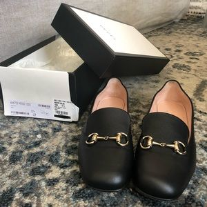 Gucci Black soft leather Flat loafers